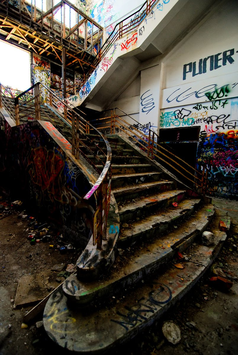 staircase at abandoned fremantle power station