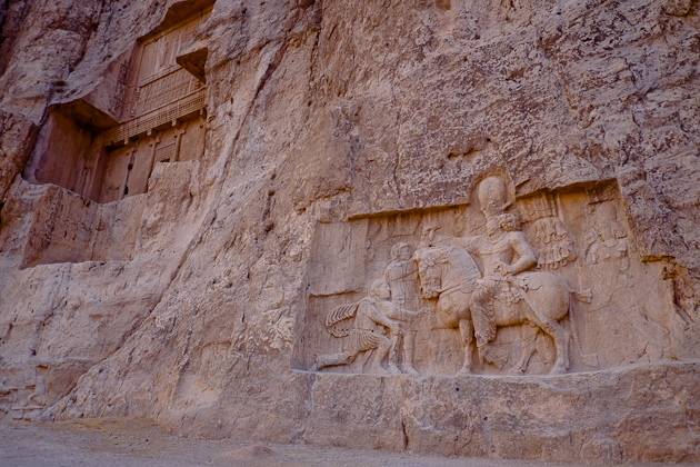 Relief detail at Naqsh-e Rostam