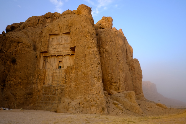 Hazy afternoon at Naqsh-e Rostam, near Shiraz, Iran