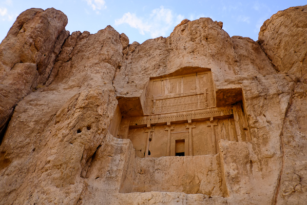 Tomb facade at Naqshe Rostam