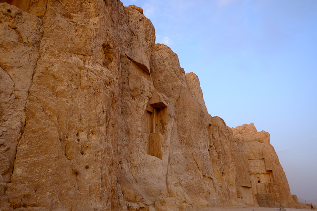 Incredible Naqsh-e Rostam - Necropolis of Kings - note the man in the bottom right corner, for scale.